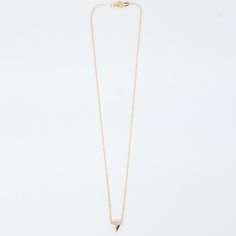 Vale - 14K Gold Chain-Thru Triangle Necklace
