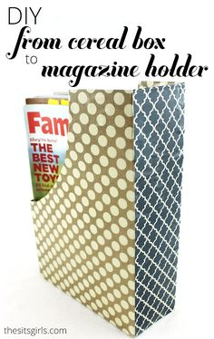 This is a great home decor DIY project to help you get organized: turn old cereal boxes into magazine or coloring book holders.