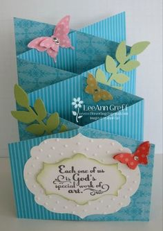 4/26/2013; Lee Ann Greff at 'Flowerbug's Inkspot' blog; GREAT photo enhanced tutorial for this cascading card