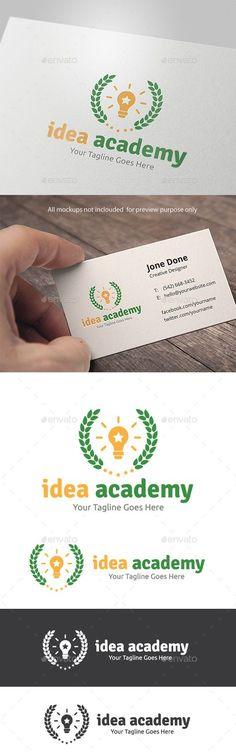 Idea Academy - Logo Design Template Vector #logotype Download it here: http://graphicriver.net/item/idea-academy/11162341?s_rank=985?ref=nesto