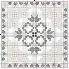 Flores no Jardim  - Lee Albrecht: 200.000 Acessos - Free Hardanger Pattern
