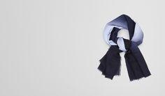 Sky Blue Wool Scarf - Unisex's Bottega Veneta® Scarf Or Hat Or Glove - Shop at the Official Online Store United Kingdom