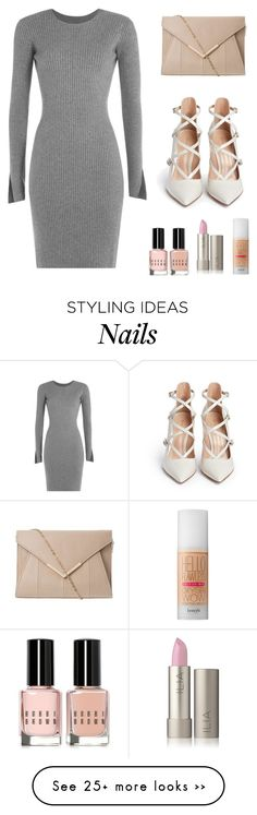 """Dystopia"" by mingnawen on Polyvore featuring Alexander Wang, Gianvito Rossi, Bobbi Brown Cosmetics, Benefit, Clutch, dress and makeup"