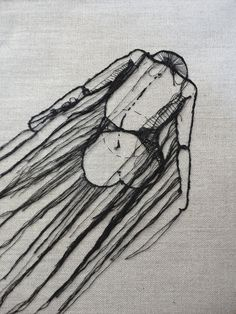 thread line drawing by andrea farina