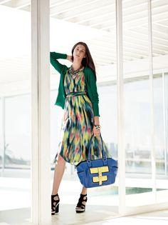 Simply Vera Vera Wang embraces the color of the season. #emerald #Kohls