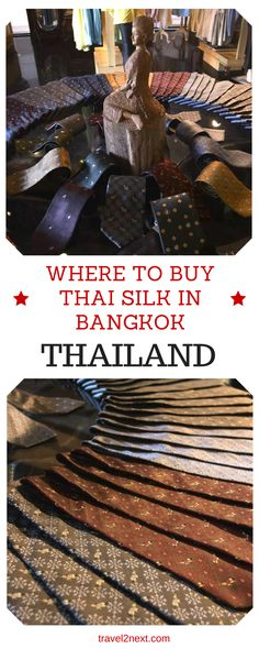 Thai silk – Where to buy Thai silk in Bangkok. Just walk into any shopping mall or market in Bangkok and you will see rows of silk items, from pre cut dressmaking fabrics to neckties, and cushion covers.