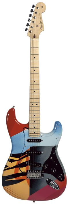 Eric Clapton's strat painted by Crash - beautiful. This was auctioned off in 2004 for $321,100!