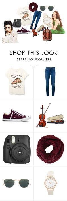 """Arwen's usual outfit"" by ipreferlemonpie on Polyvore featuring moda, Frame Denim, Converse, Rosin, BCBGMAXAZRIA, Linda Farrow, women's clothing, women, female y woman"