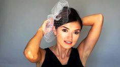 How to Wear Birdcage Veil on LOW SIDE DIAGONAL #fascinator #tutorial