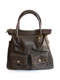 Barbour ladies olive waxed International shoulder bag