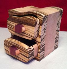***SOLD*** Exotic Wood Small Jewelry bandsaw Box