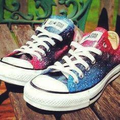 galaxy print shoes