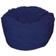 Bean Bag Chair Color: Navy - http://delanico.com/bean-bag-chairs/bean-bag-chair-color-navy-589048094/
