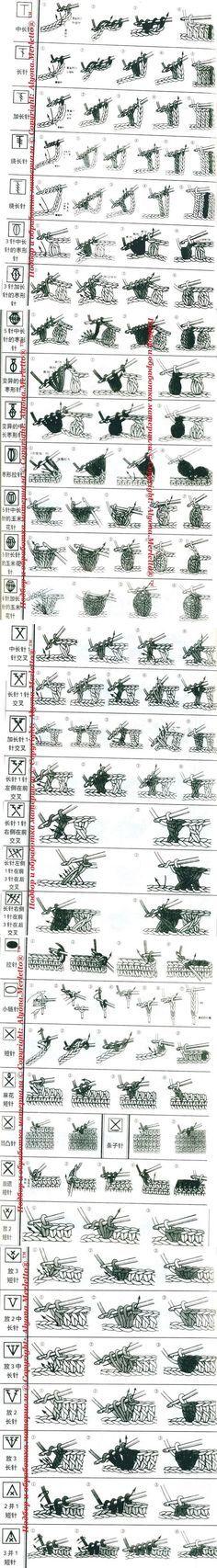 Вязание-крючок >Расшифровка китайских схем ...   вязание   Постила