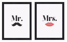 Quadros Mr & Mrs   On The Wall Quadros Personalizados