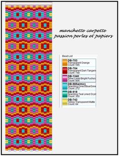 Manchette carpette - Passion Perles et Papiers