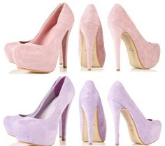 Pastel Purple Heels... I want these not sure what to wear them ...
