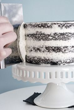 I can use all the help I can get with frosting cakes. I always seem to end up with crumbs . . . hope this works!