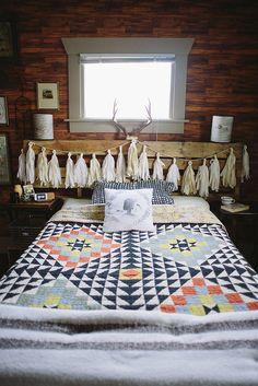 Rustic Bedroom Tour by Delightfully Tacky, via Flickr