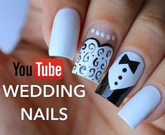 Wedding Nails Bride Nails, Wedding Nails, Cute Nail Designs, Nail Artist, Cute Nails, Wedding Designs, Hair And Nails, Dream Wedding, Nail Desings