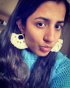Tassel Earrings, Crochet Earrings, Tassle Garland, Fabric Jewelry, Ear Rings, Boho Fashion, Earrings, Bohemian Fashion, Ear Piercings