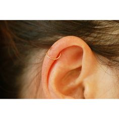 Thin nose hoop, Cartilage piercing hoop earrings, body piercing, 20... (8.03 AUD) ❤ liked on Polyvore featuring jewelry