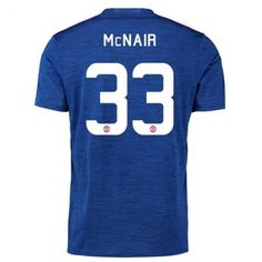 Manchester United 16-17 Paddy McNair 33 Borte Drakt Kortermet.  http://www.fotballpanett.com/manchester-united-16-17-paddy-mcnair-33-borte-drakt-kortermet.  #fotballdrakter