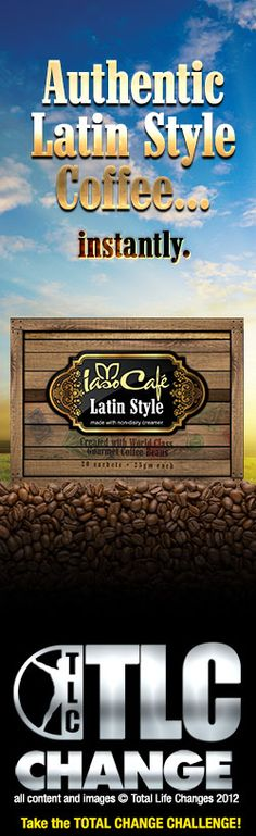 Iaso™ Cafe Latin Style (Instant Coffee)  Bringing you beans from  south of the border. Iaso™ Café Latin Style Gourmet coffee, without an irritating barista. Latin Styled coffee, available anytime, instantly. Flavor this good only comes from south of the border. Iaso Café Latin Style starts with a great nutty taste and is then blended with non-dairy creamer.