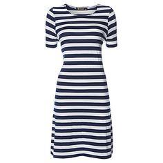 Buy Rise Ashbridge Dress, Blue White Online at johnlewis.com