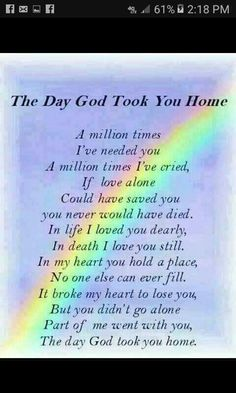 Discover and share Missing Mom In Heaven Quotes. Explore our collection of motivational and famous quotes by authors you know and love. Miss Mom, Miss You Dad, Quotes Rainbow, Rainbow Sayings, Rainbow Poem, Rip Daddy, Missing Daddy, Rip Grandpa, Missing My Sister Quotes