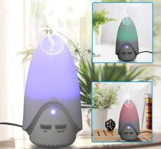 Technology - Tecnología: Color Changing LED Ultrasonic Air Humidifier Purif...
