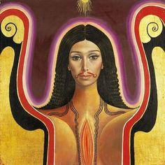 Brazilian Angel - portrait by Mati Klarwein - 1967