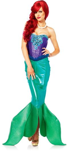 Under The Sea Sexy Siren Mermaid Ariel Outfit Fairy Tales Costume Adult Womens #LegAvenue #CompleteCostume