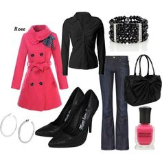 Dressed up pink and black