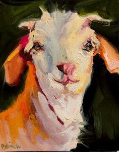 Contemporary Artists of Utah: ARTOUTWEST DIANE WHITEHEAD FINE ART OIL PAINTING GOAT FARM ANIMAL ART