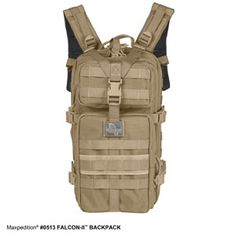 FALCON-II BACKPACK: This medium bodied pack is thoroughly constructed with 1050-Denier water & abrasion resistant nylon; yet its ergonomic shape, padded shoulder straps and sturdy sternum & waist support make it comfortable to wear in high-pressure situations. www.Maxpedition.com