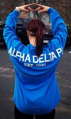 Alpha Delta Pi spirit jersey http://facebook.com/spiritfootballjersey