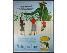 Green Giant 1950s Vintage Advertising Wall Art by thevintageshop