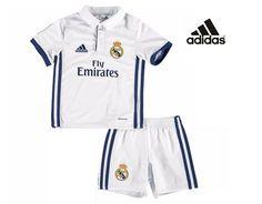 Equipación Oficial del Real Madrid Adidas 2017 para niños pequeños. Antes  50 c8234757fa5bf