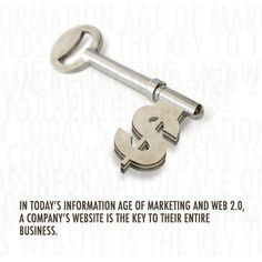 """""""In today's information age of marketing and web a company's website is the key to their entire business. Business Marketing, Online Marketing, Information Age, Web 2, Online Web, Career, Social Media, Quote, Key"""