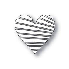 Simon Says Stamp LIGHT RAY HEART Wafer Dies s346 You Have My Heart