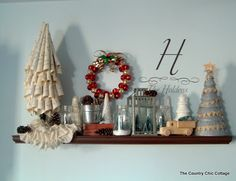 My Christmas Mantle (mantel) plus a craft contest! ~ * THE COUNTRY CHIC COTTAGE (DIY, Home Decor, Crafts, Farmhouse)