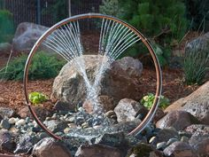 Copper tubing water fountain