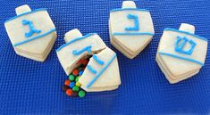 Dreidel Cookies Filles with Candy