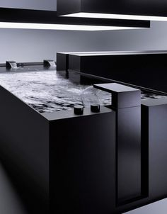 Deque by Sieger Design for Dornbracht - I love how wide the faucets are.