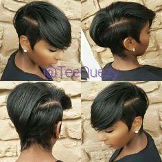 Great Short Hairstyles for Black Women – My hair and beauty Unique Hairstyles, Black Women Hairstyles, Girl Hairstyles, Hairstyles 2016, Hairstyle Ideas, Beautiful Hairstyles, Popular Hairstyles, Weave Hairstyles, Elsa Hairstyle