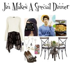 """Jin Makes A Special Dinner"" by rena-bella ❤ liked on Polyvore featuring Henri Bendel, Billabong, Valentino, Topshop, ASOS, Miss Selfridge, ALDO, Panama Jack, Marc Jacobs and Casetify"