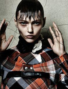 STYLING Model Face <~> :: Model Sasha Pivovarova / Photography Craig McDean / Stylist Karl Templer / Hair Eugene Souleiman / Makeup Mark Carrasquillo - Interview Magazine October 2013
