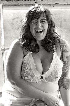 "fayedaniels: "" When I laugh. Big And Beautiful, Beautiful Women, Girls Cuddling, Fat Women, I Laughed, Plus Size, Poses, Bra, Sexy"