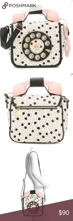 🎉🎉BRAND NEW🎉🎉Call Me Maybe Crossbody Bag Brand new. Has a fully functioning phone that can connect to your cell phone. Very unique :) Betsey Johnson Bags